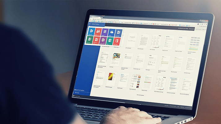 microsoft office 365 on the screen